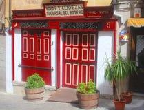 塔帕纤维布在托莱多,拉曼查,西班牙禁止 免版税库存照片