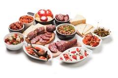 塔帕纤维布或开胃小菜膳食 库存图片