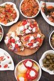 塔帕纤维布或开胃小菜食物 免版税库存照片