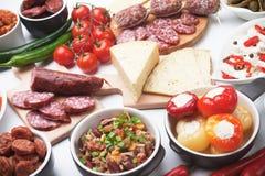 塔帕纤维布或开胃小菜食物 免版税图库摄影
