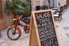 塔帕纤维布菜单板 免版税库存图片