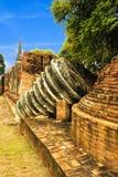 塔废墟在古老旅游业地方 库存图片