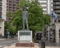 塔德乌什Kosciuszko玛丽亚Konieczny,本杰明・富兰克林公园大道,费城,宾夕法尼亚将军铜雕塑  库存图片