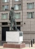 塔德乌什Kosciuszko玛丽亚Konieczny,本杰明・富兰克林公园大道,费城,宾夕法尼亚将军铜雕塑  免版税库存照片
