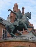 塔德乌什Kosciuszko纪念碑骑马古铜色雕象 免版税库存照片