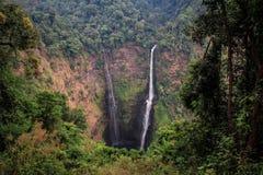 塔德Fane瀑布, Bolaven高原,占巴塞省,老挝 库存图片
