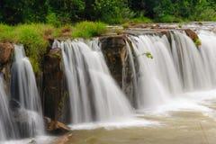 塔德Pha Souam瀑布,老挝。 免版税库存照片