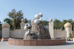 塔拉兹,哈萨克斯坦- 2016年8月14日:建筑合奏 图库摄影