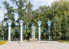 塔拉兹,哈萨克斯坦- 2016年8月14日:Turar Ryskulov 1894-1938 - 免版税库存图片