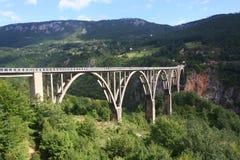 塔拉桥梁黑山 免版税库存照片