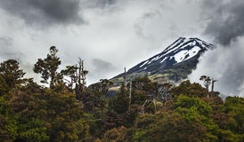 塔拉纳基山,新西兰完善的火山山 库存照片