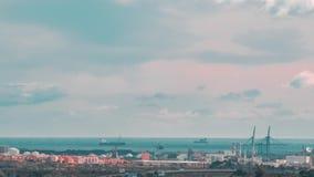 塔拉贡纳,西班牙地中海港Timelapse  影视素材