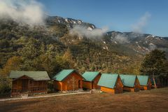 塔拉阵营,波斯尼亚 免版税库存照片
