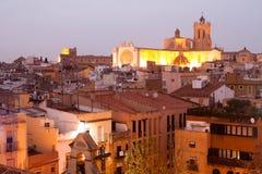 塔拉贡纳哥特式大教堂看法  卡塔龙尼亚,西班牙 免版税库存照片