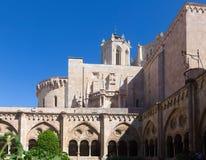 塔拉贡纳大教堂哥特式修道院  库存图片