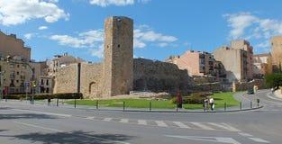 塔拉贡纳罗马墙壁 免版税库存图片