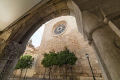 塔拉贡纳& x28; Spain& x29; :哥特式大教堂 库存图片