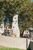 塔斯曼纪念碑在街市霍巴特,澳大利亚 免版税库存图片