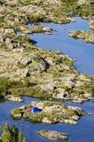 塔斯马尼亚岛帐篷原野 免版税库存照片