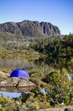 塔斯马尼亚岛帐篷原野 免版税库存图片