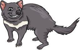 塔斯马尼亚恶魔动画片例证 库存图片