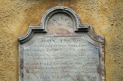 塔斯马尼亚的殖民地王牌墓石 免版税库存照片
