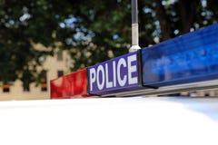 塔斯马尼亚的警车 库存图片