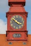 塔时钟从1786,伊赫拉瓦河 库存图片