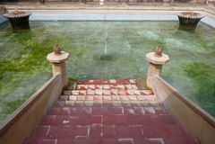 塔曼莎丽服的皇家浴室 免版税图库摄影