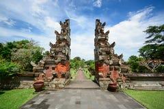 塔曼Ayun寺庙门,巴厘岛印度尼西亚 免版税库存照片