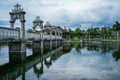塔曼Ujung水宫殿 库存照片
