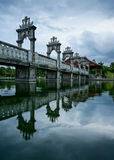 塔曼Ujung水宫殿 免版税库存照片