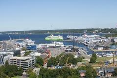 塔林海口晴朗的夏日 爱沙尼亚 免版税库存照片