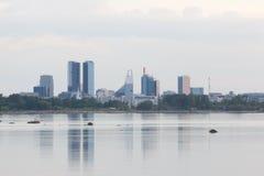 塔林现代市中心视图 免版税图库摄影