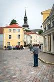 塔林老镇在爱沙尼亚 免版税库存图片