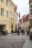 塔林老镇街道在爱沙尼亚 库存图片