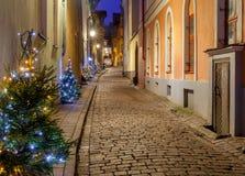 塔林 lvov中世纪老街道乌克兰 库存图片