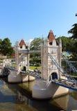塔桥梁伦敦在微型公园 免版税库存照片