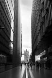 塔桥梁和办公楼,伦敦 库存图片