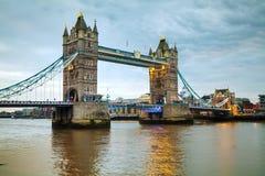 塔桥梁在伦敦,大英国 图库摄影