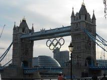 塔桥梁,伦敦奥林匹克2012年 免版税图库摄影