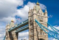 塔桥梁,伦敦的标志 库存照片