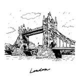 塔桥梁,伦敦,英国,英国 向量例证