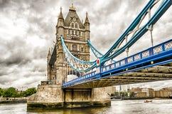 塔桥梁,古迹在伦敦 免版税库存图片