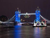 塔桥梁: 伦敦2012个夏季奥运会 免版税库存图片