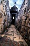 塔楼走道,圣胡安,波多黎各 库存照片