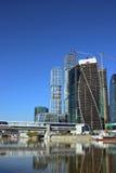 塔演变商业中心M的建筑 免版税库存照片