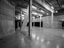 塔特现代在黑白的伦敦 库存照片