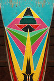 塔玛琳传统小船被绘的颜色 免版税库存照片