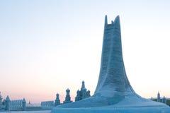 塔由冰制成 免版税库存照片